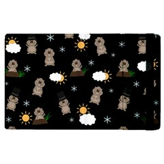 Groundhog Day Pattern Apple Ipad Pro 9 7   Flip Case