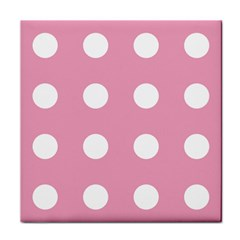 Pale Pink Dot Tile Coasters