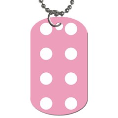 Pale Pink Dot Dog Tag (one Side)