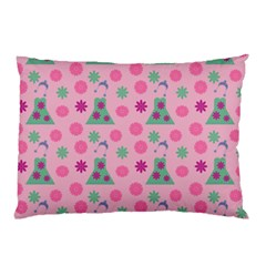 Green Dress Pink Pillow Case (two Sides)