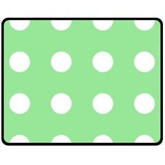 Lime Dot Fleece Blanket (medium)