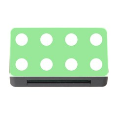 Lime Dot Memory Card Reader With Cf