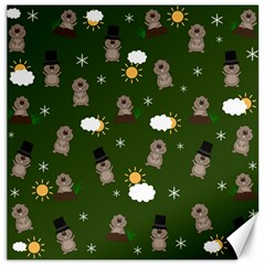 Groundhog Day Pattern Canvas 16  X 16