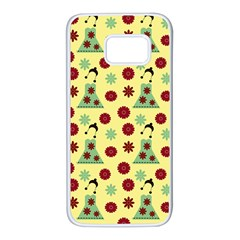 Green Dress Yellow Samsung Galaxy S7 White Seamless Case