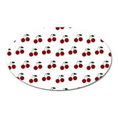 Cherries Oval Magnet