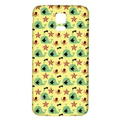 Yellow Sea Whales Samsung Galaxy S5 Back Case (white)
