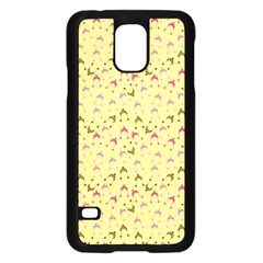 Hats Pink Beige Samsung Galaxy S5 Case (black)