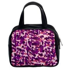 Pink Camo Classic Handbags (2 Sides)