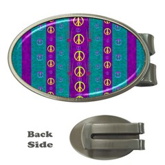 Peace Be With Us This Wonderful Year In True Love Money Clips (oval)