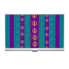 Peace Be With Us This Wonderful Year In True Love Business Card Holders