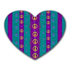 Peace Be With Us This Wonderful Year In True Love Heart Mousepads