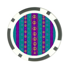 Peace Be With Us This Wonderful Year In True Love Poker Chip Card Guard