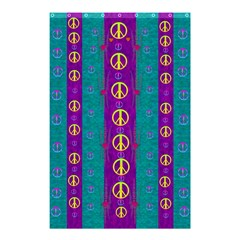 Peace Be With Us This Wonderful Year In True Love Shower Curtain 48  X 72  (small)