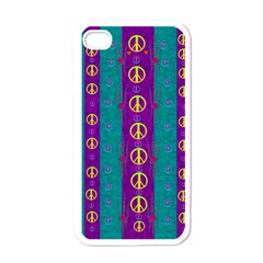 Peace Be With Us This Wonderful Year In True Love Apple Iphone 4 Case (white)
