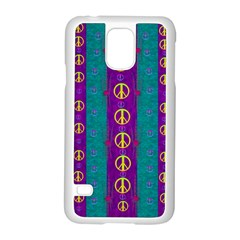 Peace Be With Us This Wonderful Year In True Love Samsung Galaxy S5 Case (white)