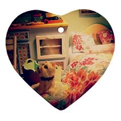 Cream Dollhouse Heart Ornament (two Sides)