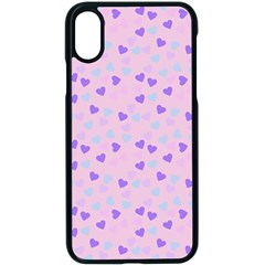 Blue Pink Hearts Apple Iphone X Seamless Case (black)