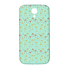 Blue Orange Hats Samsung Galaxy S4 I9500/i9505  Hardshell Back Case