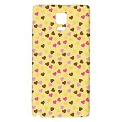 Beige Hearts Galaxy Note 4 Back Case