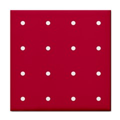 Red Dot Tile Coasters