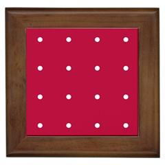 Red Dot Framed Tiles
