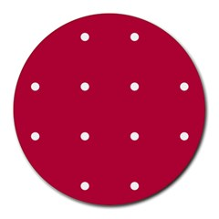 Red Dot Round Mousepads