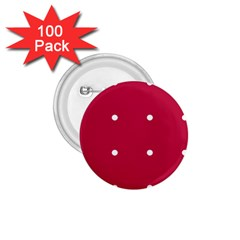 Red Dot 1 75  Buttons (100 Pack)