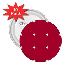 Red Dot 2 25  Buttons (10 Pack)