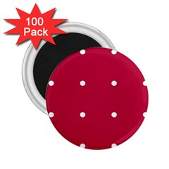 Red Dot 2 25  Magnets (100 Pack)