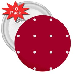Red Dot 3  Buttons (10 Pack)