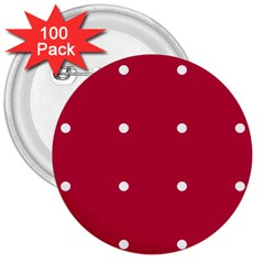 Red Dot 3  Buttons (100 Pack)