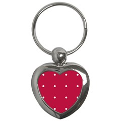 Red Dot Key Chains (heart)