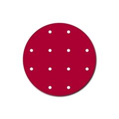Red Dot Rubber Coaster (round)