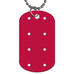 Red Dot Dog Tag (one Side)