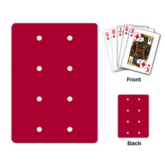 Red Dot Playing Card