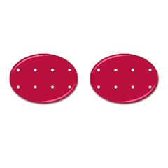 Red Dot Cufflinks (oval)