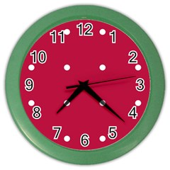 Red Dot Color Wall Clocks