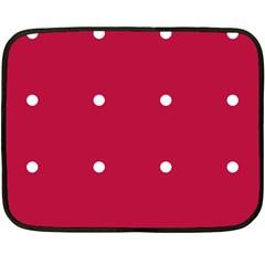 Red Dot Double Sided Fleece Blanket (mini)