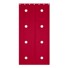 Red Dot Shower Curtain 36  X 72  (stall)