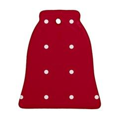 Red Dot Bell Ornament (two Sides)