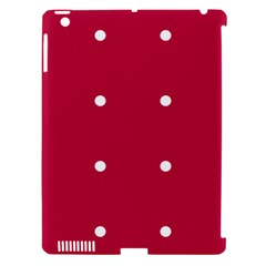 Red Dot Apple Ipad 3/4 Hardshell Case (compatible With Smart Cover)
