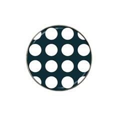 Big Dot Teal Blue Hat Clip Ball Marker (4 Pack)