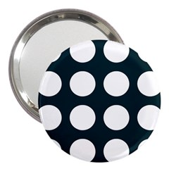 Big Dot Teal Blue 3  Handbag Mirrors