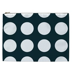 Big Dot Teal Blue Cosmetic Bag (xxl)