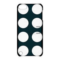 Big Dot Teal Blue Apple Ipod Touch 5 Hardshell Case With Stand