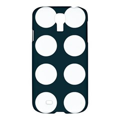 Big Dot Teal Blue Samsung Galaxy S4 I9500/i9505 Hardshell Case