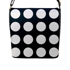 Big Dot Teal Blue Flap Messenger Bag (l)