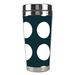 Big Dot Teal Blue Stainless Steel Travel Tumblers