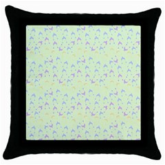 Minty Hats Throw Pillow Case (black)
