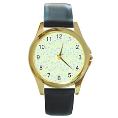 Minty Hats Round Gold Metal Watch